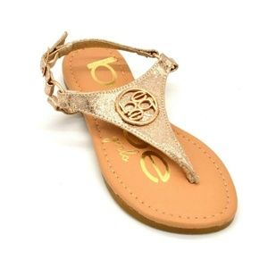 BeBe Girls Thong Sandal With Embellishments 12 New